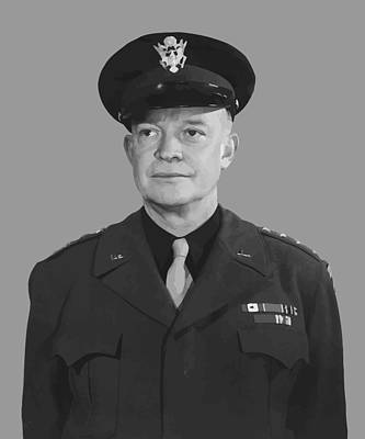 General Dwight D. Eisenhower Art Print by War Is Hell Store