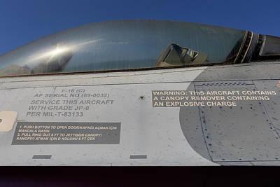 Photograph - General Dynamics F-16 by David Pyatt