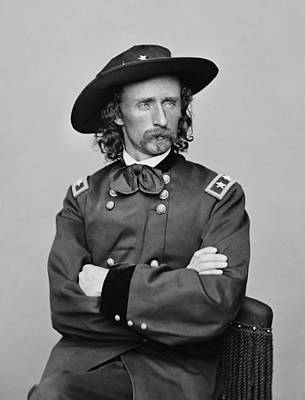 Cavalry Photograph - General George Armstrong Custer by War Is Hell Store