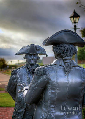 Photograph - General George Washington And Admiral Francois De Grasse Yorktown by Karen Jorstad