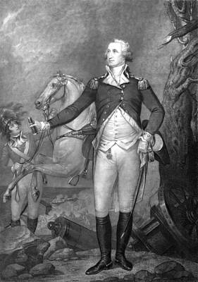 Revolutionary War Painting - General George Washington At Trenton by War Is Hell Store