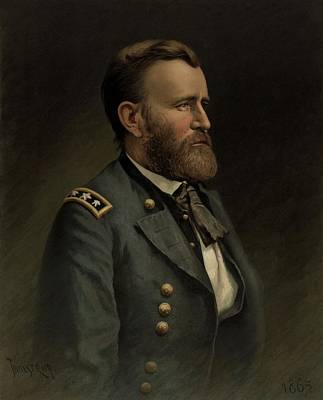 Landmarks Painting Royalty Free Images - General Grant - American Civil War Royalty-Free Image by War Is Hell Store