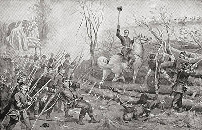 General Grant At The Battle Of Fort Art Print