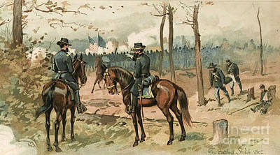 Army Of The Potomac Photograph - General Grant, Battle Of Shiloh, 1862 by Wellcome Images