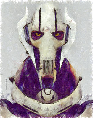 Outer Space Painting - General Grievous by Leonardo Digenio