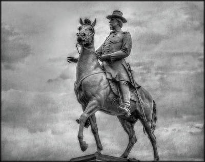 Infantry Digital Art - General Hancock Monument At Gettysburg Battlefield by Randy Steele