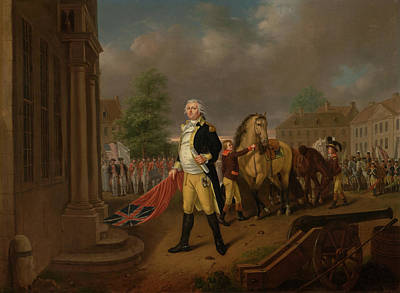Painting - General Humphreys Delivering The Standards Taken At Yorktown To  by Nicolas Louis Albert Delerive