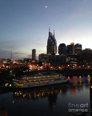 General Jackson On Cumberland River Nashville Tn-2 Art Print by Wanda-Lynn Searles