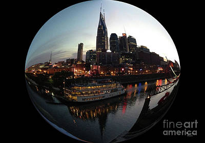 General Jackson On Cumberland River Nashville Tn - Orb   Art Print by Wanda-Lynn Searles