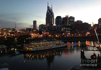 General Jackson On Cumberland River Nashville Tn Art Print by Wanda-Lynn Searles