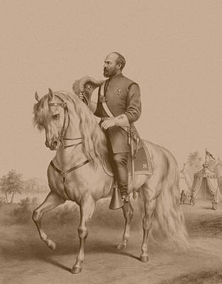 Animals Drawings - General James Garfield by War Is Hell Store