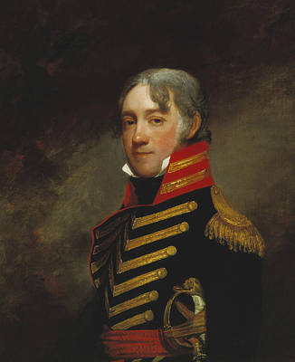 American Soldier Painting - General John R. Fenwick by Gilbert Stuart
