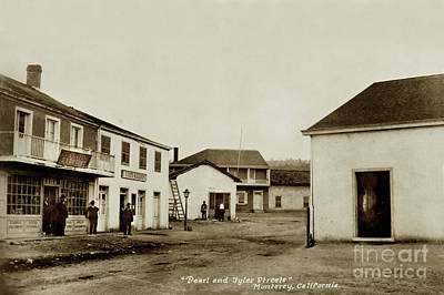 Photograph - General Jose Castro's Headquarters In Monterey,  Cal. 1880 by California Views Mr Pat Hathaway Archives