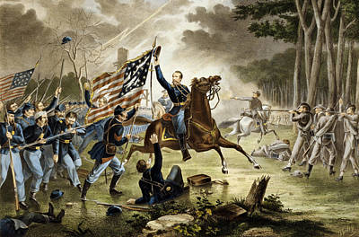 Star Spangled Banner Drawing - General Kearney's Gallant Charge At The Battle Of Chantilly by Augustus Tholey