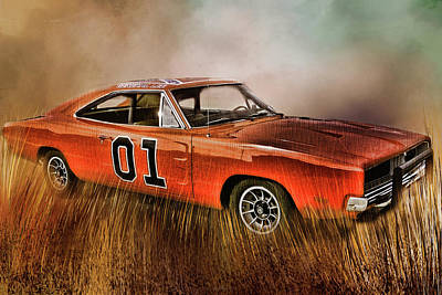 Digital Art - General Lee by TnBackroadsPhotos
