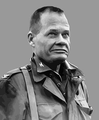 Landmarks Painting Royalty Free Images - General Lewis Chesty Puller Royalty-Free Image by War Is Hell Store