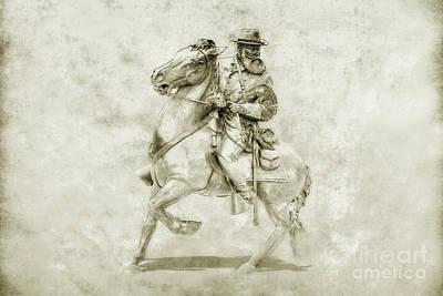 General Longstreet At Gettysburg Art Print by Randy Steele