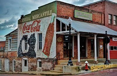 Photograph - General Mercanite's Coca-cola Wall Mural Ad by Savannah Gibbs