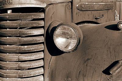 Photograph - General Motors Truck - Old Gmc II by Sharon Hudson