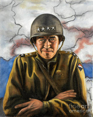 Painting - General Omar Bradley by Richard Barone