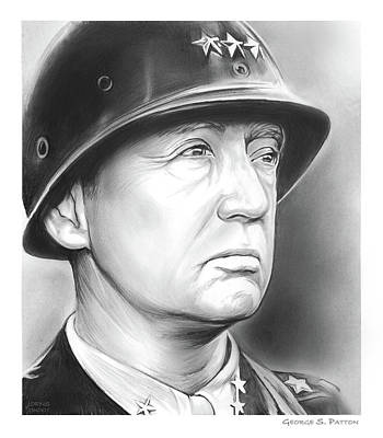 Drawing - General Patton by Greg Joens
