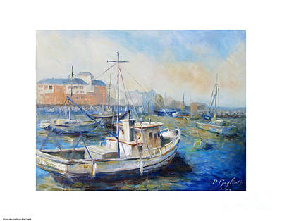 Monterey Wharf Painting - General Pershing by Patty Gaglioti