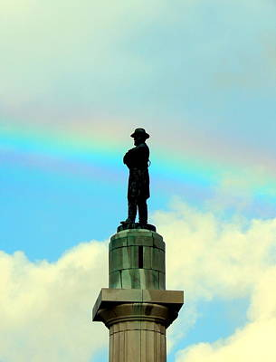 Photograph - General Robert E. Lee Statue  Retro Spectrum In New Olreans by Michael Hoard