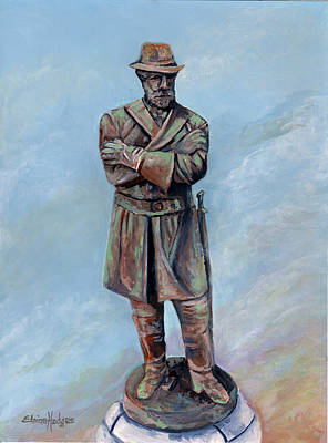 Confederate Monument Painting - General Robert E. Lee Monument by Elaine Hodges