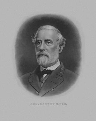 Landmarks Painting Royalty Free Images - General Robert E. Lee Print Royalty-Free Image by War Is Hell Store