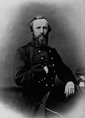 American Civil War Photograph - General Rutherford B. Hayes - Civil War by War Is Hell Store