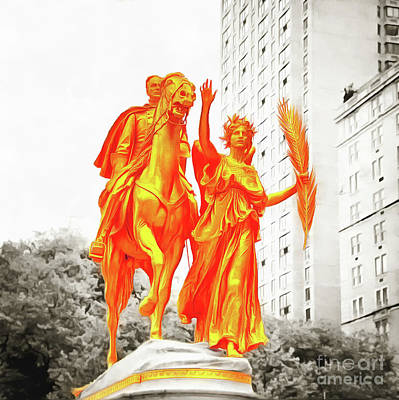 Photograph - General Sherman Statue Grand Army Plaza Central Park by Nishanth Gopinathan