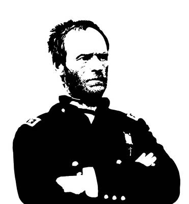 War Hero Digital Art - General Sherman by War Is Hell Store