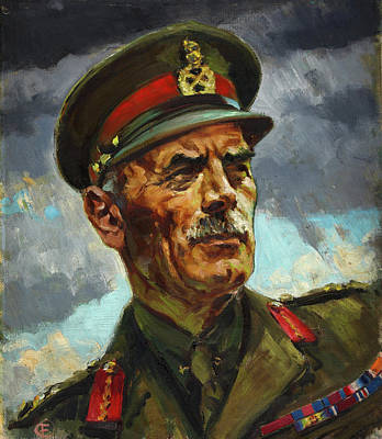 Painting - General Sir Alan Cunningham by Harold Foster