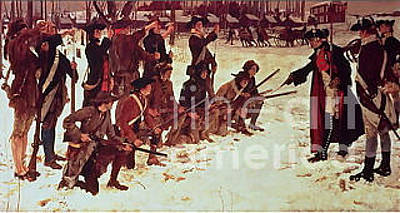 General Steuben Training Troops Original by Frederick Holiday