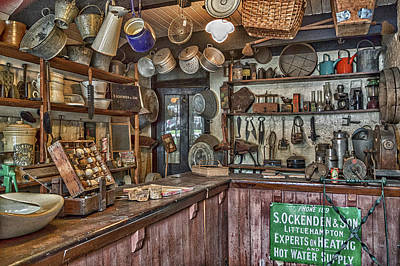General Store. Art Print by Angela Aird