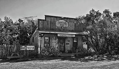 Photograph - General Store Near Fredericksburg Black And White by Judy Vincent