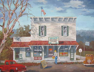 Painting - General Store by Tony Caviston