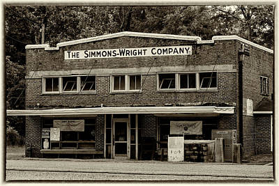 Screen Doors Photograph - General Store - Vintage Sepia With Border by Stephen Stookey
