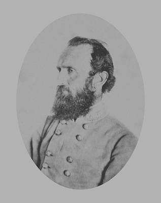 American History Photograph - General Thomas Stonewall Jackson by War Is Hell Store