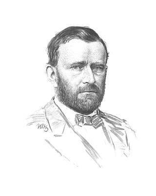 President Mixed Media - General Ulysses Grant by War Is Hell Store