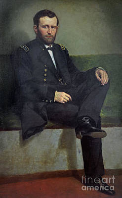 Healy Painting - General Ulysses S Grant by George Peter Alexander Healy