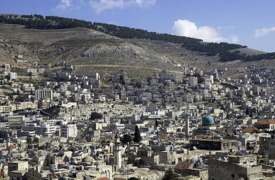 Photograph - General View Of Nablus 3 by Isam Awad