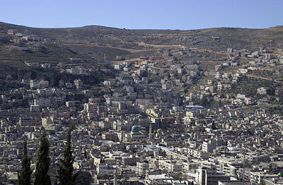 Photograph - General View Of Nablus 5 by Isam Awad