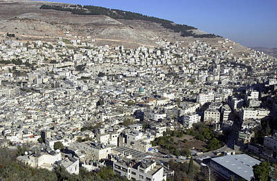 Photograph - General View Of Nablus by Isam Awad