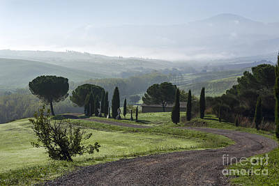 General View Of Val D'orcia, Tuscany Art Print by Luigi Morbidelli
