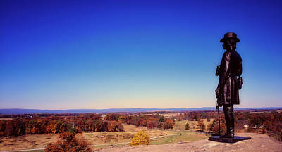 Photograph - General Warren Statue - Gettysburg by L O C