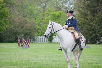 Politicians Royalty-Free and Rights-Managed Images - General Washington in Colonial Williamsburg by Teresa Mucha