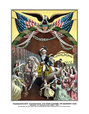 President Painting - General Washington's Reception At Trenton by War Is Hell Store