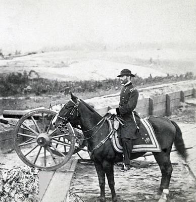 William Sherman Photograph - General William T Sherman On Horseback - C 1864 by International  Images