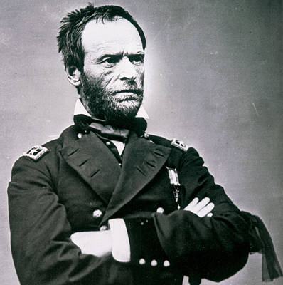 Black Jacket Photograph - General William Tecumseh Sherman by American School